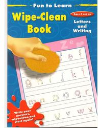 "Fun to Learn Wipe- clean: "" Letters and Writing"" WITH"" Numbers and Counting"" AND"" Opposites"" AND"" Shapes and Colours"""