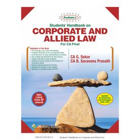 Students Handbook for Corporate and Allied Law (CA Final) , 8E