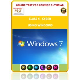 Class 4, Using windows, Online test for Cyber Olympiad