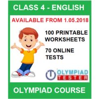 Class 4 English Olympiad Course with 100 Printable Worksheets and 70 Online tests