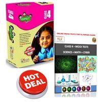 Class 4, Olympiad exam preparation, 8 books+ Online test series