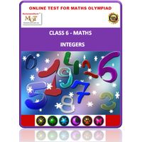Class 6, Integers, Online test for Math Olympiad