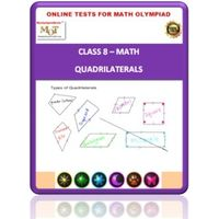 Class 8, Quadrilaterals, Online test for Math Olympiad