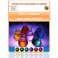 Class 7, Acids Bases and Salts, Online test for Science Olympiad