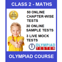 Class 2 Maths Olympiad Course with 50 Chapter- wise tests and 35 mock tests