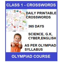 Class 1- Daily printable crossword for 365 days in Science, G. K, English & Cyber