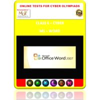 Class 6, MS Word, Online test for Cyber Olympiad