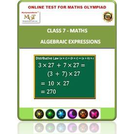 Class 7, Algebraic expressions, Online test for Math Olympiad
