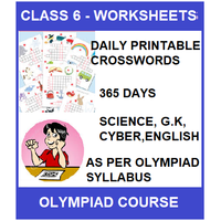 Class 6 Daily printable crossword for 365 days in Science, G. K, English & Cyber