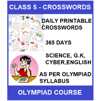 Class 5 Daily printable crossword for 365 days in Science, G. K, English & Cyber