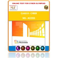 Class 8, MS Access, Cyber Olympiad Online test