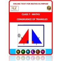 Class 7, Congruence of triangles, Online test for Math Olympiad