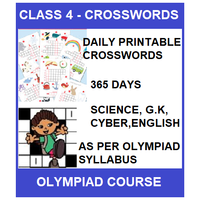 Class 4 Daily printable crossword for 365 days in Science, G. K, English & Cyber