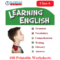 100 Printable Worksheets for Class 4 English Olympiad exam preparation