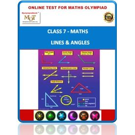 Class 7, Lines & angles, Online test for Math Olympiad