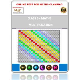 Class 5, Multiplication, Online test for Math Olympiad
