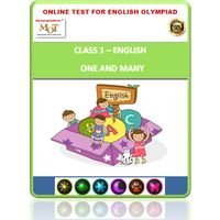 Class 1- One & many- Online test for English Olympiad