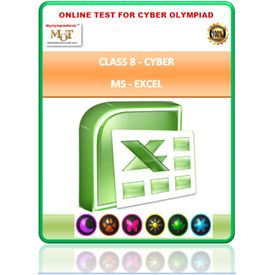 Class 8, MS EXCEL, Cyber Olympiad Online test
