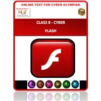 Class 8, Flash, Online Cyber Olympiad test