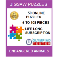 50 Online Jigsaw puzzles (6 to 108 pieces) - Endangered animals