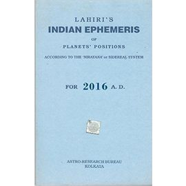 Lahiri Indian Ephemeris 2016