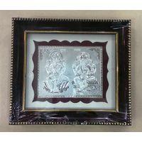 Silver Lakshmi Ganesha Frame-GP002, frame2