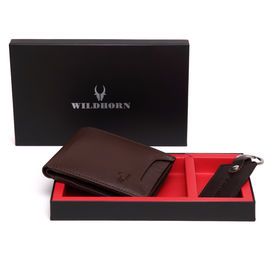 WILDHORN NEW HIGH QUALITY GENUINE MEN' S LEATHER KEY RING & WALLET COMBO…