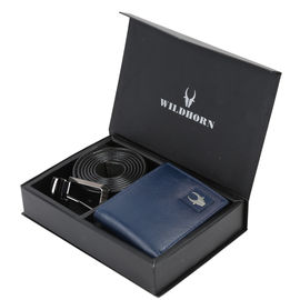 WILDHORN BLUE NEW HIGH QUALITY GENUINE MEN' S LEATHER GIFT COMBO