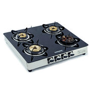 Sunshine Meethi Angeethi Four Burner Toughened Glass Top Gas Stove, lpg, manual