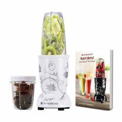 Wonderchef 400 Watt Nutri-Blend Juicer Mixer Grinder (White) With Recipe Booklet