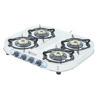 Sunshine Eco All Four Burner Stainless Steel Gas Stove, lpg, manual