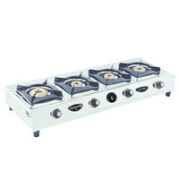 Sunshine CT-900 Four Burner Stainless Steel Gas Stove Without Cover, lpg, manual