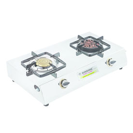 Sunshine Meethi Angeethi Double Burner Stainless Steel Gas Stove