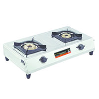 Sunshine Supreme Double Burner Stainless Steel Gas Stove, lpg, manual