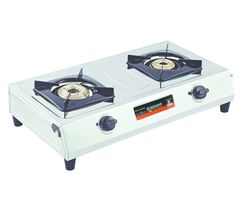 Beautiful Sunshine Supreme Double Burner Stainless Steel Gas Stove