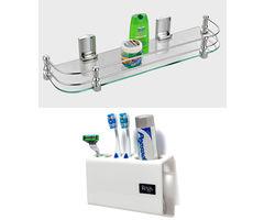 CiplaPlast Combo of Elegant Glass Shelf (20