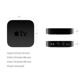 NEW Apple TV (4th Generation, 32GB, MGY52HN/A) WITH 1YR INTERNATIONAL WARRANTY