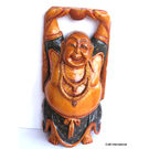 Wooden Laughing Buddha Standing Painted 6
