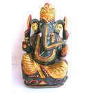 Ganesha Semi - Precious Green Zade Stone, 9 inches