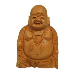 Wooden Laughing Buddha, 4 inch