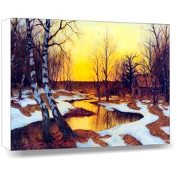 Landscape - Sun and Ice, 18 x 14 inches