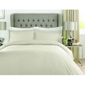 Mark Home Luxury Squares beige duvet cover in Double size
