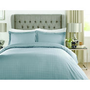 Mark Home Luxury Squares Blue Bed Sheet Set in King size