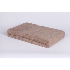 Beige cotton bath towel