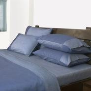 Mark Home Reversible Duvet Cover Double Blue