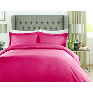 Mark Home Luxury Squares red duvet cover in Double size