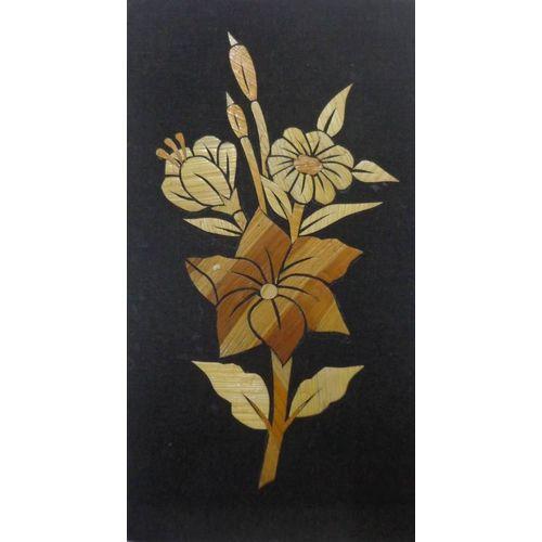 OHS015: Handmade straw art work of flower