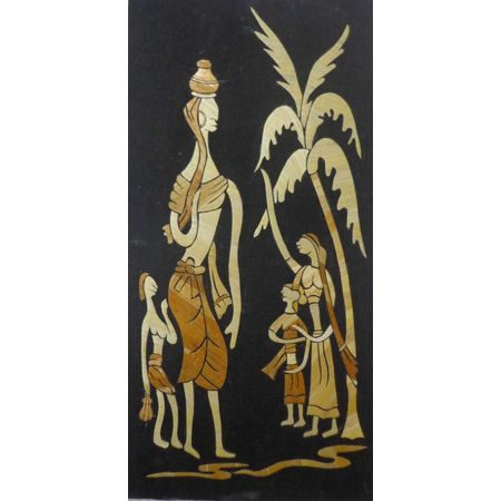 OHS012: Straw art of tribal design online