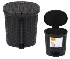 Jaypee Plus Padel Waste Bin Combo Black Big & Small - JPP-WB-SB-BK
