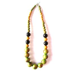 Fashion Jewellery Wooden Necklace Green